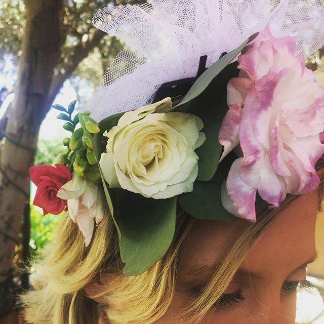 Some wear 1, but some wear 2!  Bride to Be sporting a Floral and Bride to Be Crown. Cuz she can.  #cuzshecan #flowercrown #floralcrown #beauty #bridetobe #love #summertime