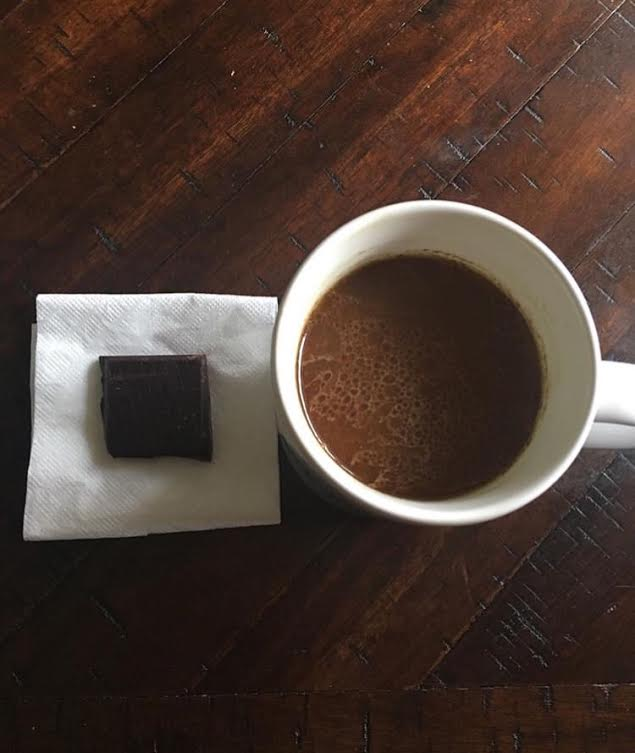 Dark chocolate and coffee