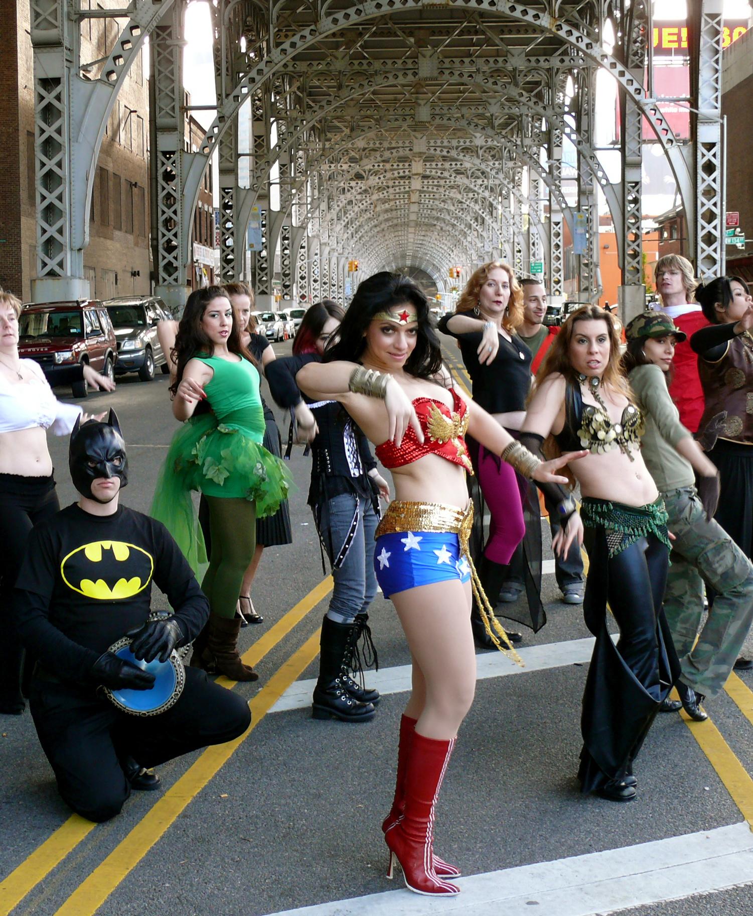 Video Still from Dorit's original Wonder Woman music video.