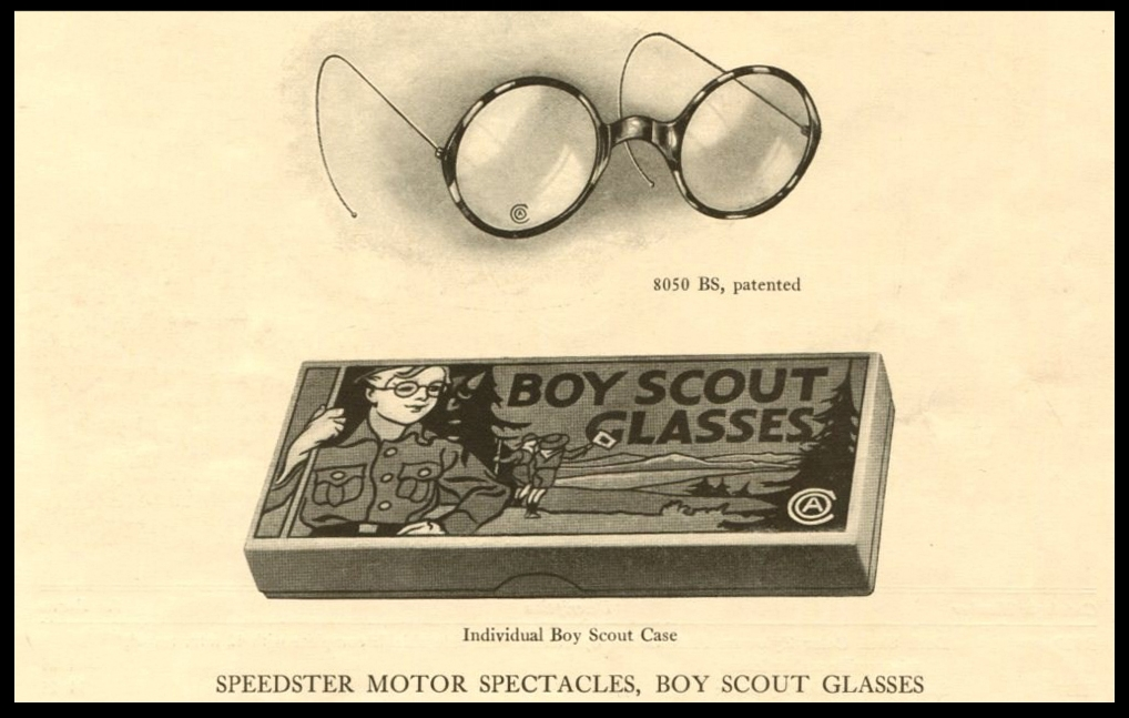 """American Optical's """"Boy Scout"""" Glasses from 1916"""