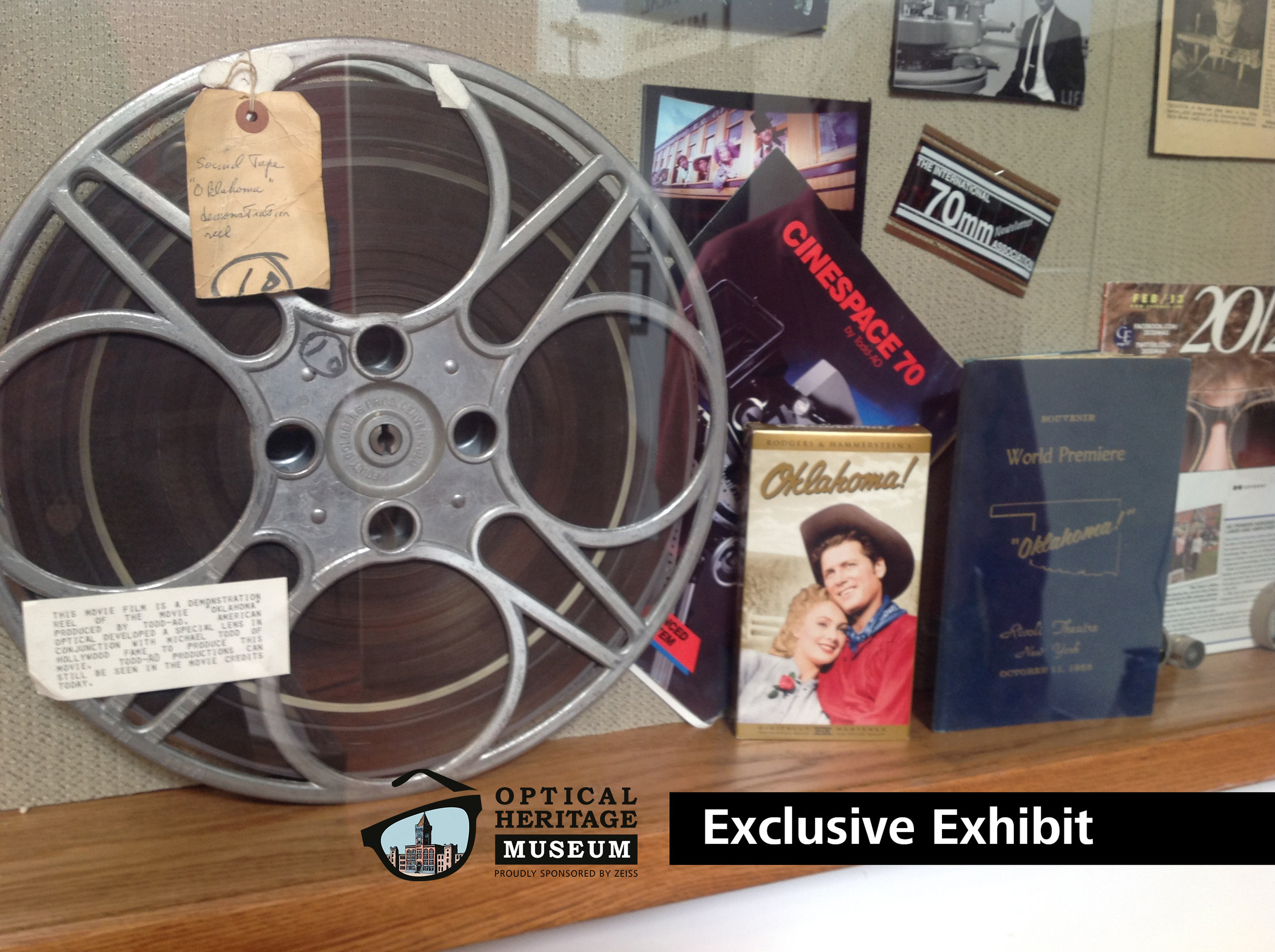 The original movie reel for Oaklahoma (1955) - Exclusive to the Optical Heritage Museum