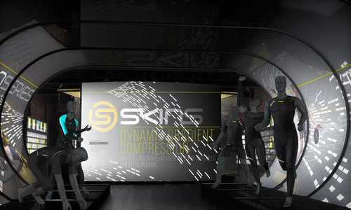 SKINS 'Fit Experience' bioform mannequins in the Brand Gallery.