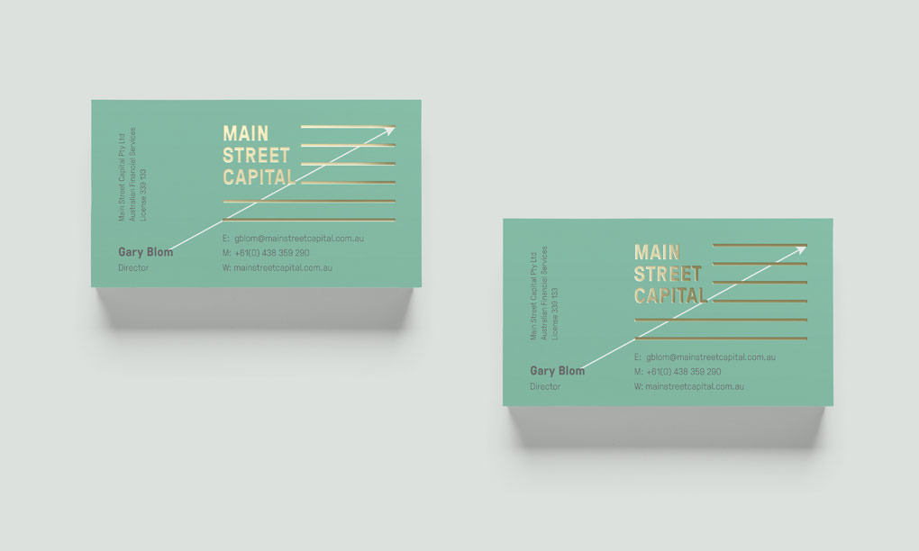 Main St. Capital business card