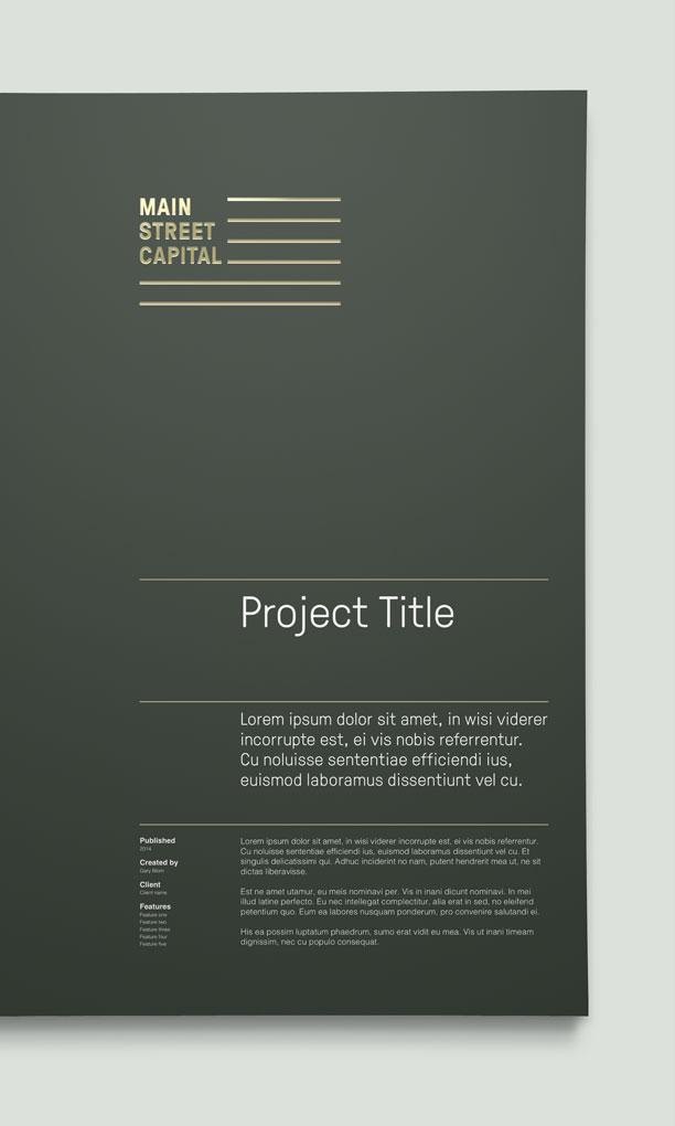 Main St. Capital Proposal Folders