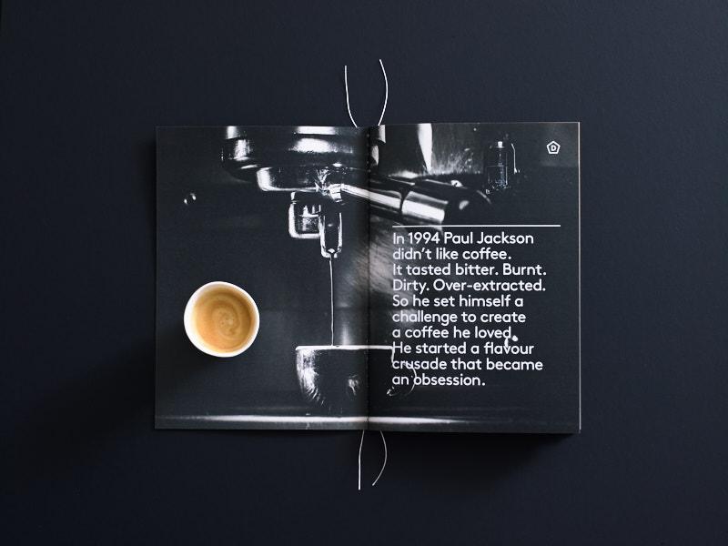 Danes Brochure Coffee spread B/W
