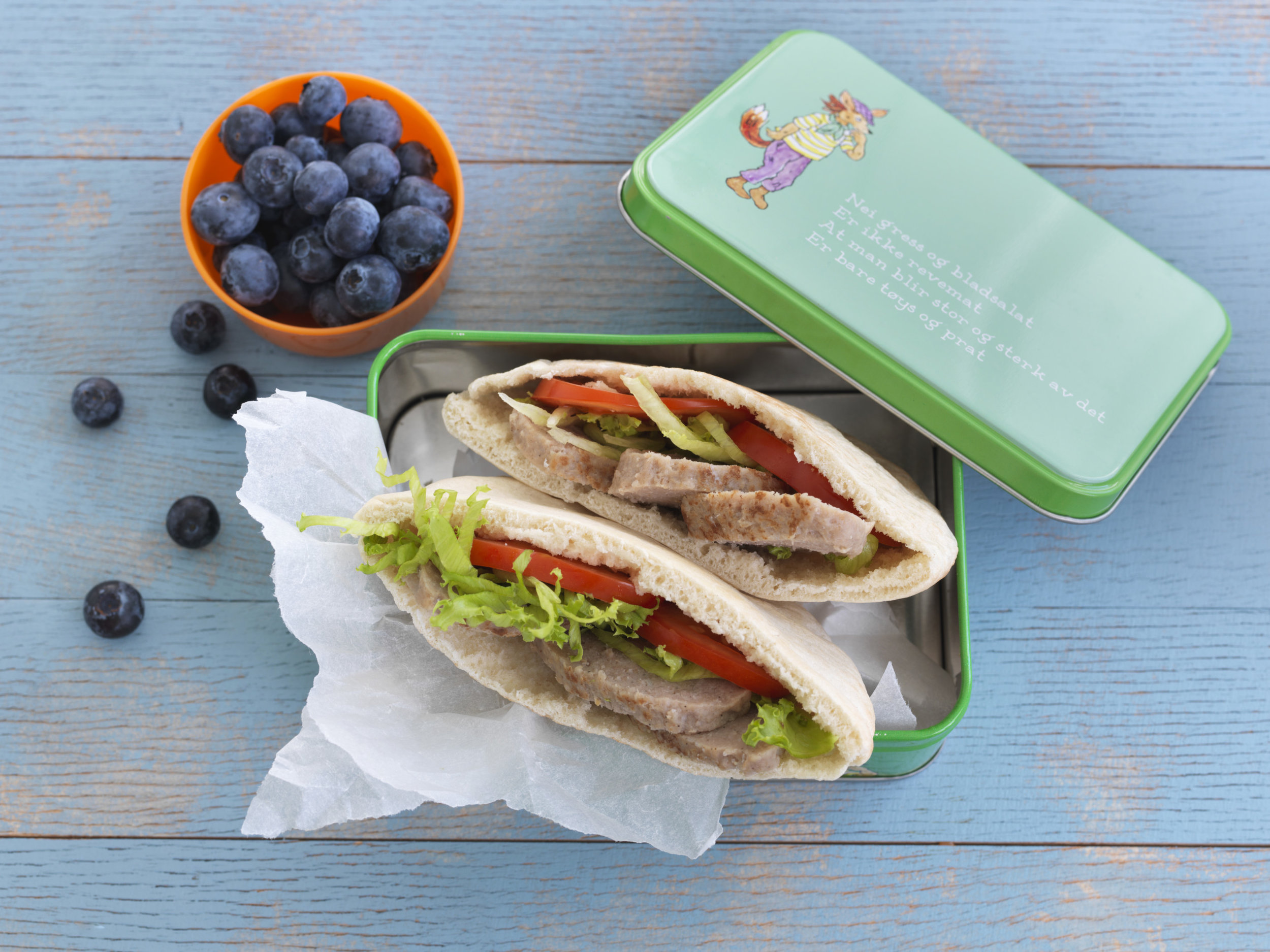 RESTEMAT: Middagsrestar passar godt som restemat dagen etter. Kjøtkaker i pitabrød er godt i matboksen. Foto:  Matprat