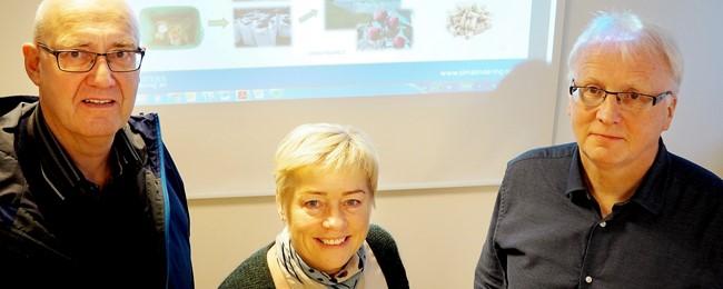 Prosjektleiar Lars Petter Nesse, styreleiar Jøril Hovland og dagleg leiar Hallvard Thomassen.   FOTO: KS Bedrift.