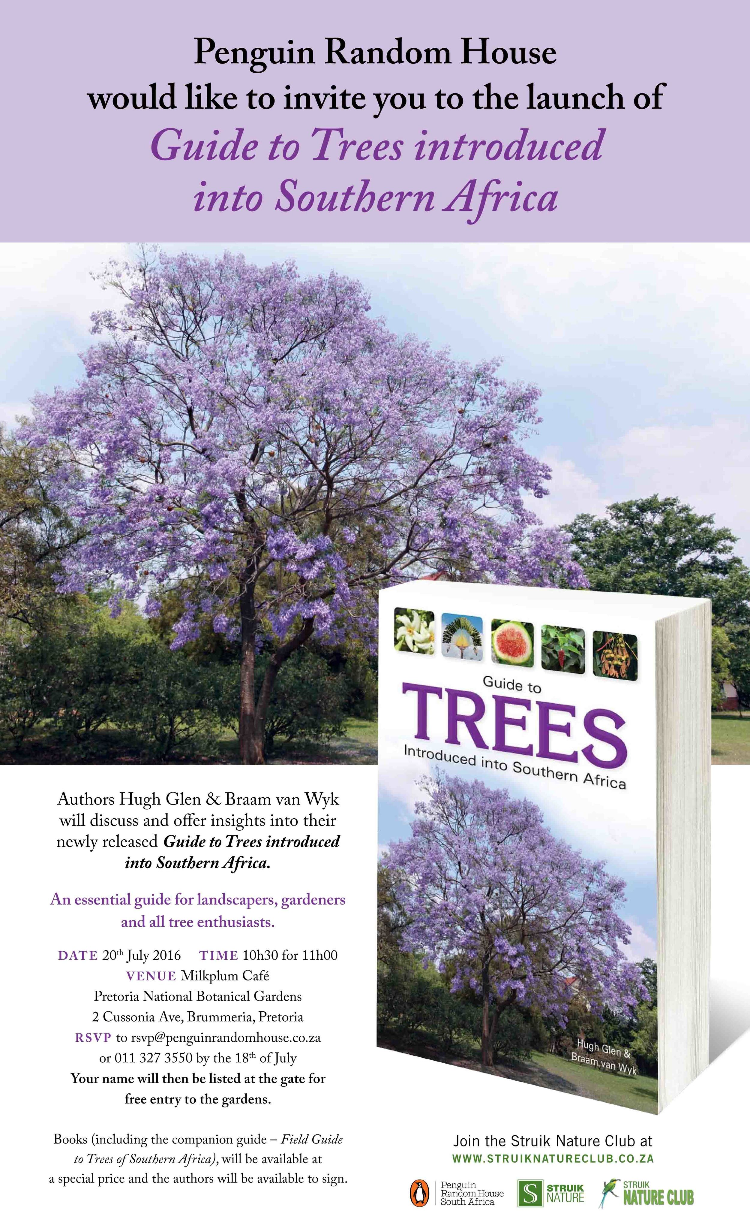 Guide to Trees introduced to South Africa