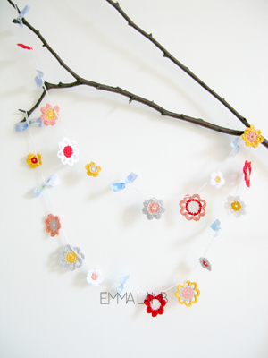 Emilia Flower Garland by Emma Lamb