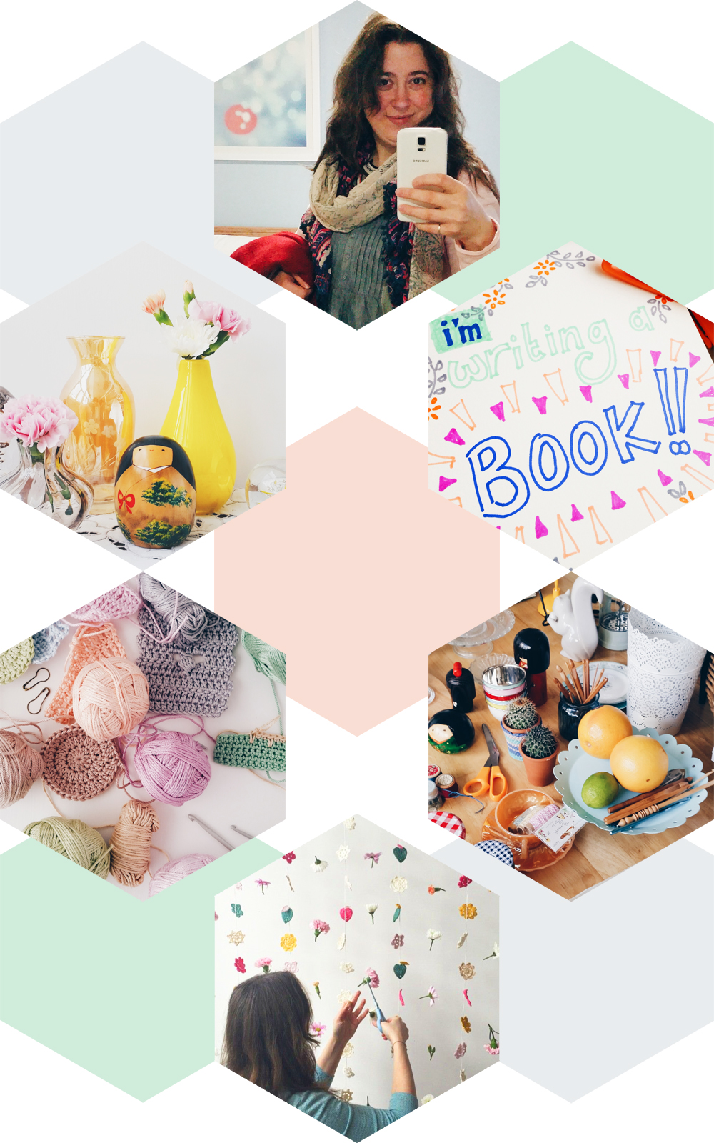 A few behind the scenes Instagrams from my new book Crochet Home (last picture by Dotty Doily)   Emma Lamb