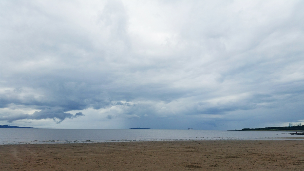 From Where I Stand - Cramond Beach looking east over the Firth of Forth to Inchkeith Island | Emma Lamb