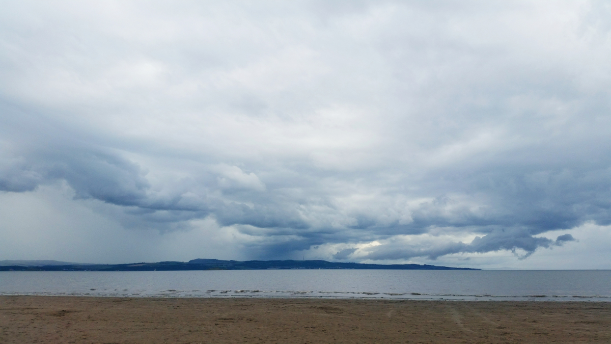 From Where I Stand - Cramond Beach looking north across the Firth of Forth to the Fife coastline | Emma Lamb