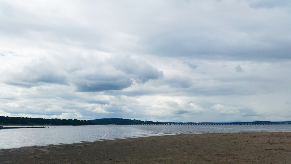 From Where I Stand - Cramond Beach looking west up the Firth of Forth towards the world famous Forth Rail Bridge | Emma Lamb