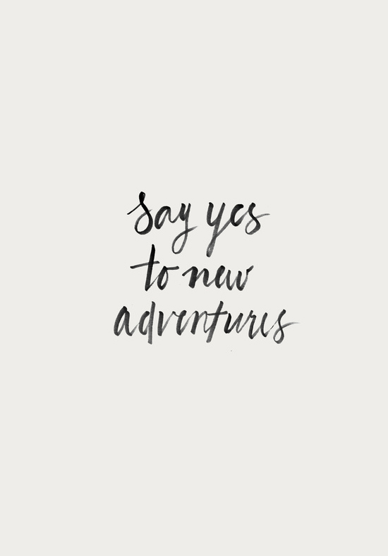 Say Yes to New Adventures Art Print - Fiddle And Spoon | Emma Lamb