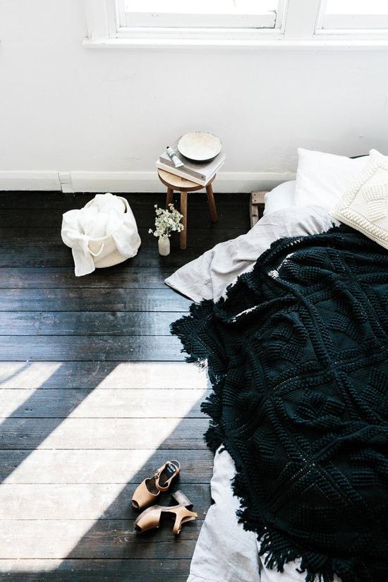 Black Hand Crochet Throw – Shelter 7 | Emma Lamb