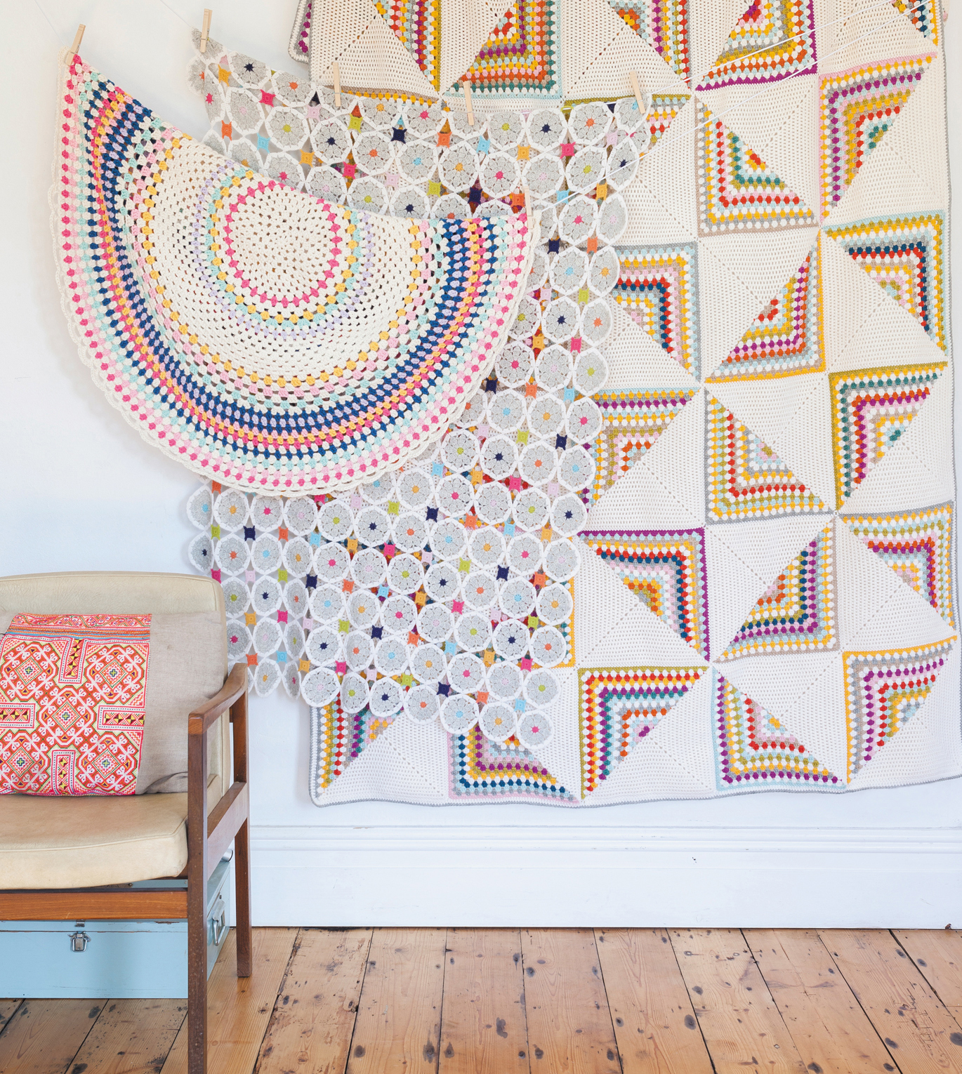Blankets from Crochet Home by Emma Lamb