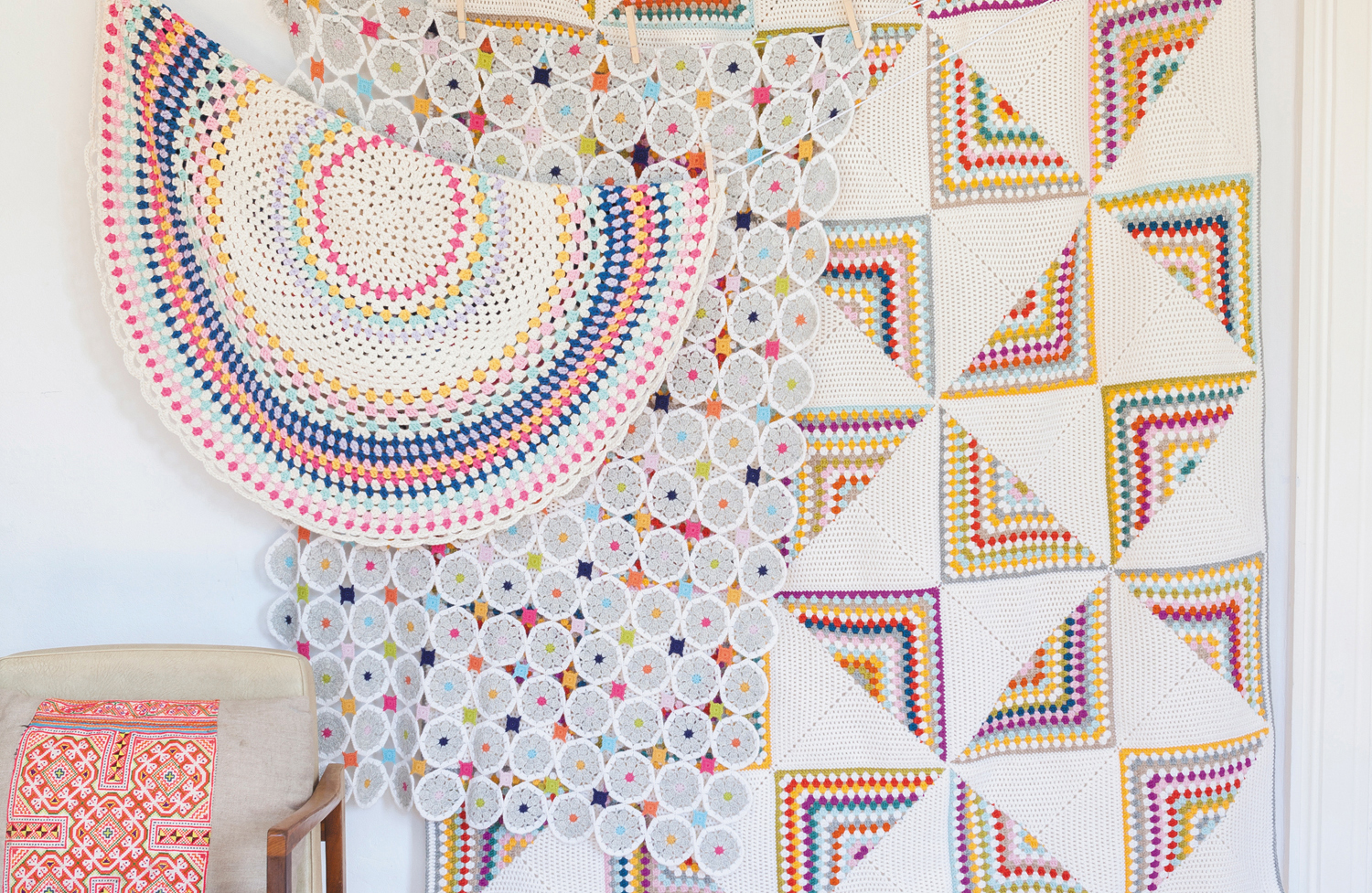 Blankets collection from Crochet Home by Emma Lamb | Crochet designs and styling by Emma Lamb / Photography by Jason M Jenkins
