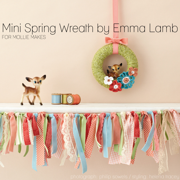 Mini Spring Wreath by Emma Lamb for Mollie Makes - photography: Philip Sowels / styling: Helena Tracey