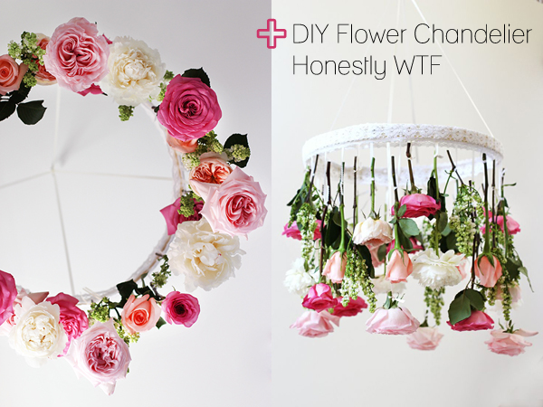 floral things I'm loving right now (DIY Flower Chandelier by Honestly WTF) | Emma Lamb