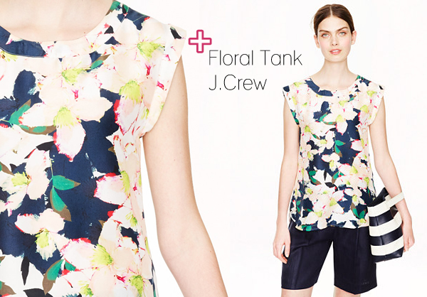 floral things I'm loving right now (Sleeveless drapey top in cove floral by J.Crew) | Emma Lamb