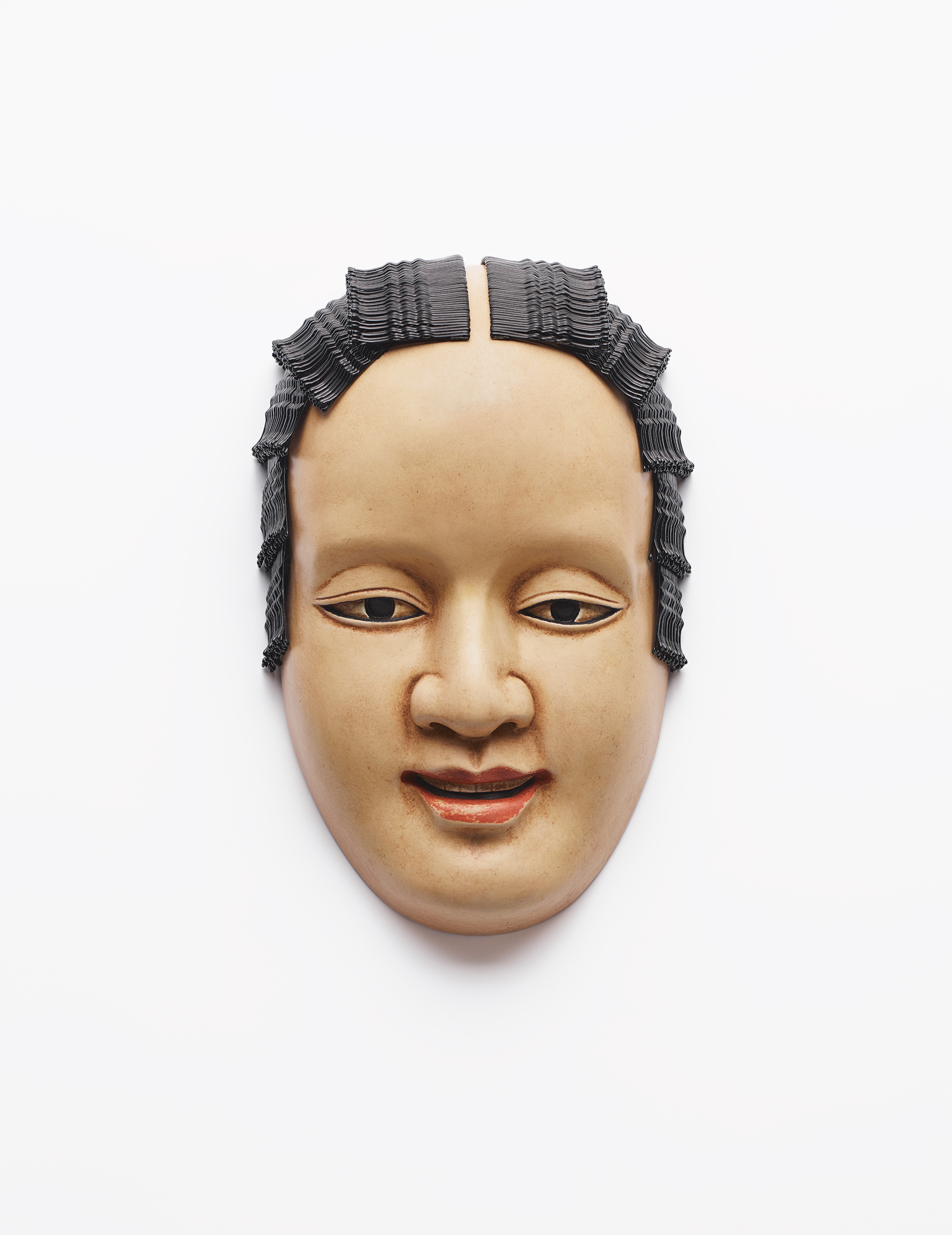 Noh Mask With Hairpins