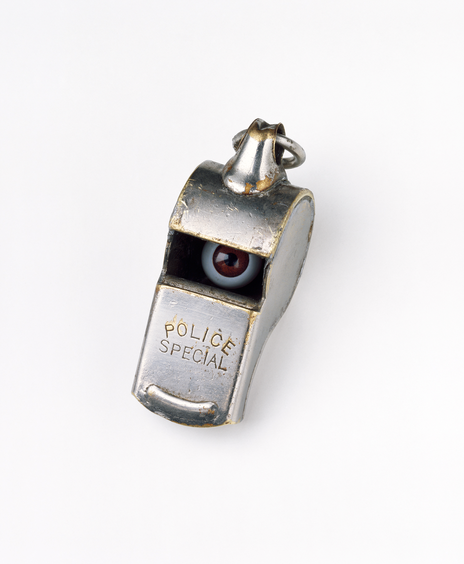 Police whistle with eyes