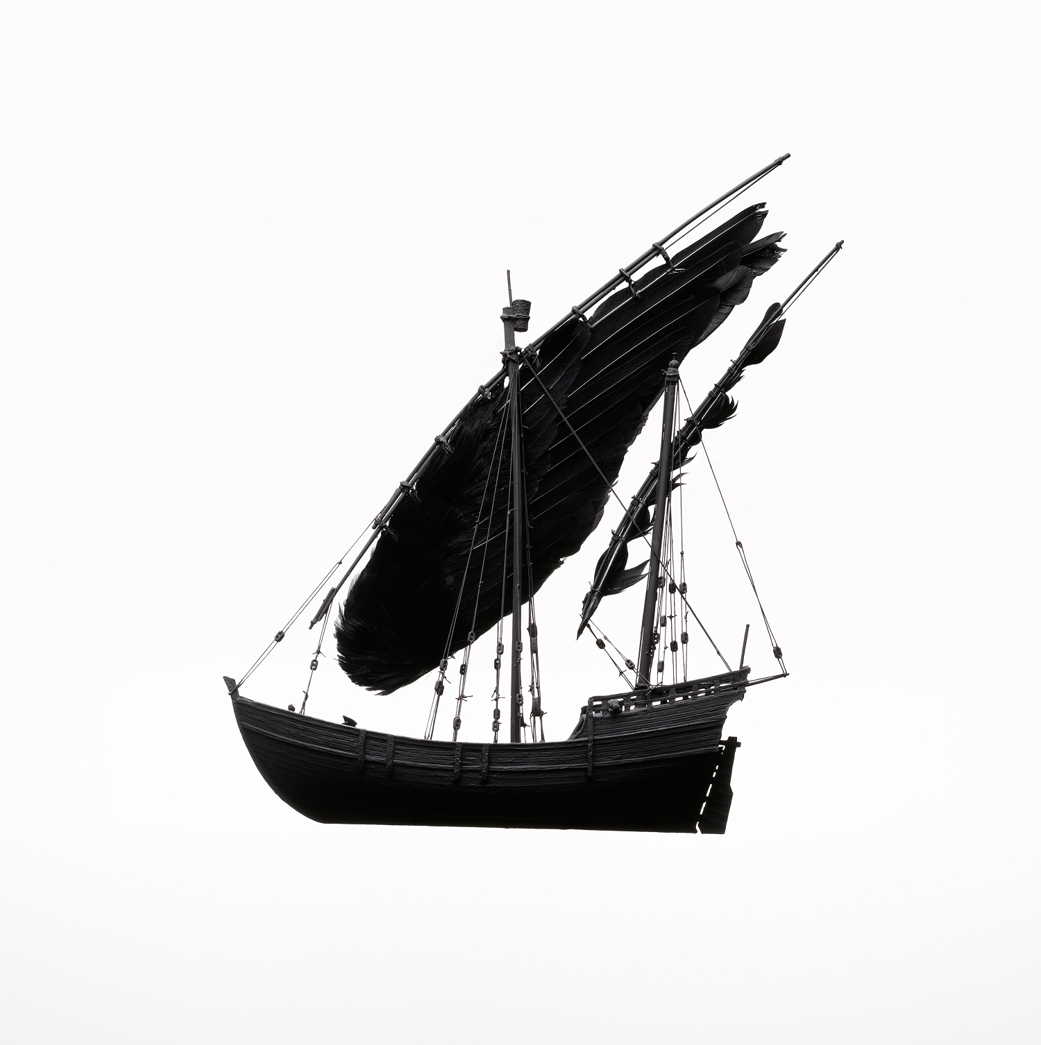 Boat with Feather Sail