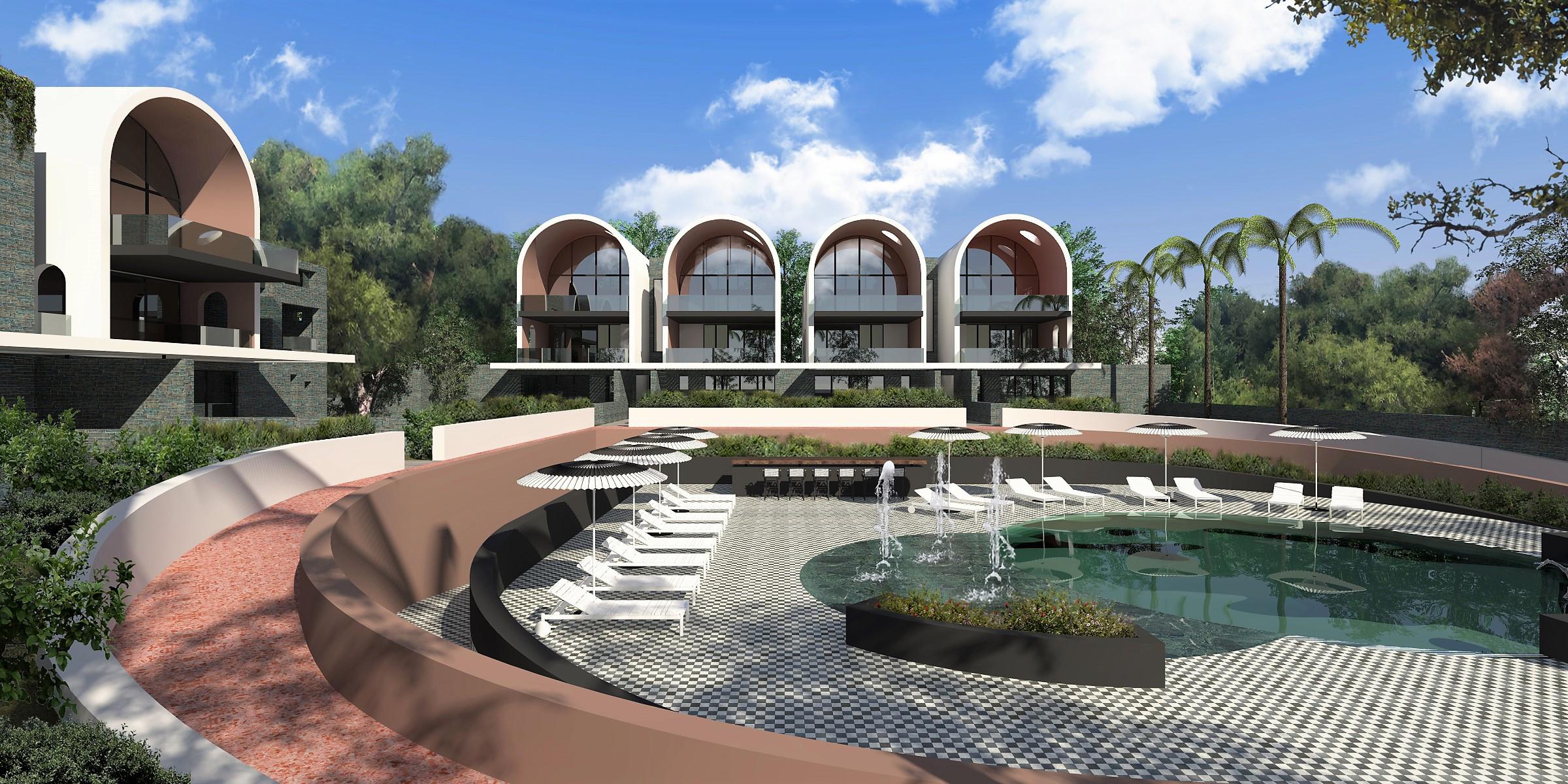 """Mirage"" Housing complex, Vouliagmeni, Greece"