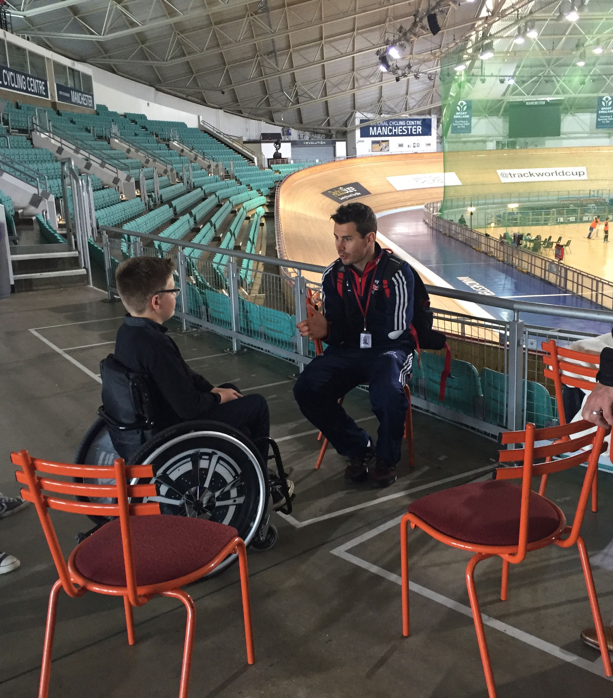 Jaco and Tom at the Manchester Velodrome last week.
