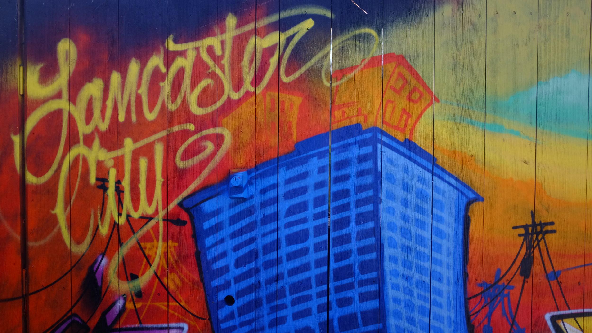 Street art. Downtown Lancaster.