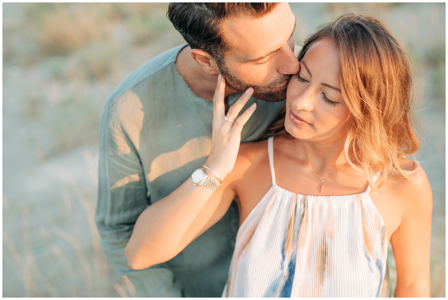 Engagement at the beach -