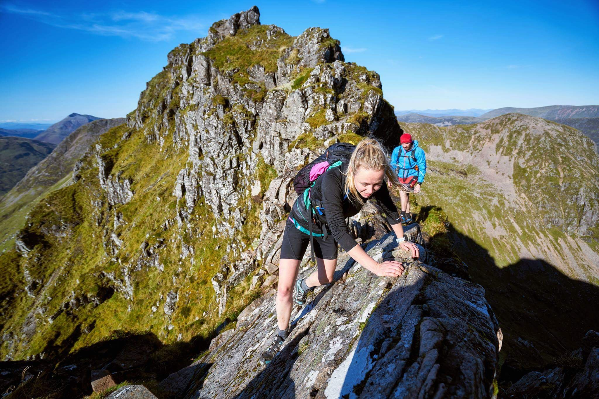 Iconic Scottish Munros - Inaccessible Pinnacle, Aonach Eagach Ridge, Curved RidgeHazel and Luke climbed and scrambled up and along these rocky Munros. The