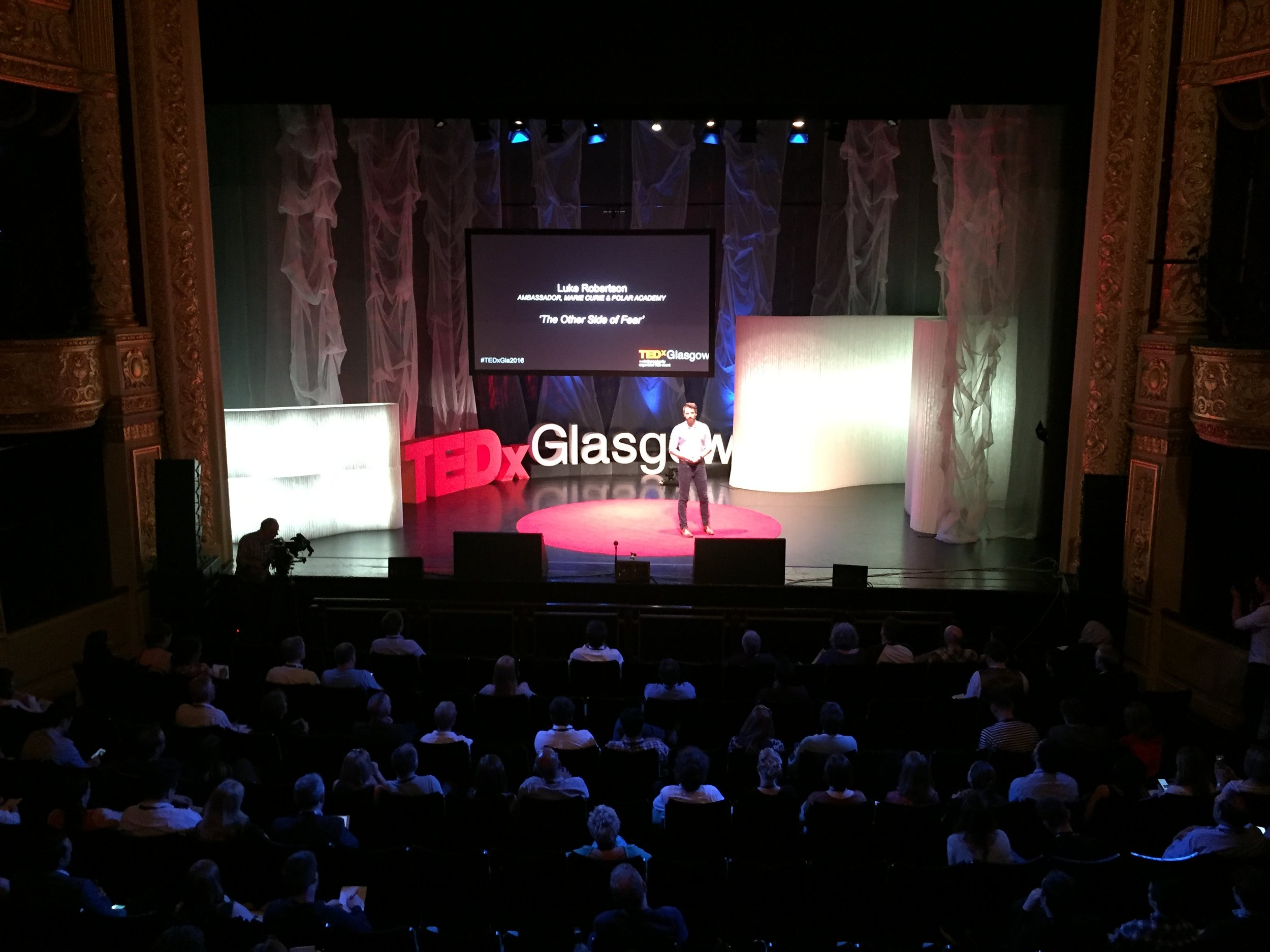 Luke speaking at TEDx Glasgow -  The other side of fear