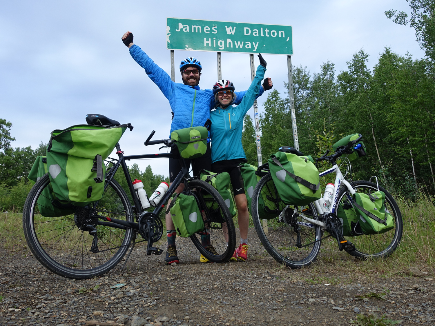 At the start of the Dalton Highway