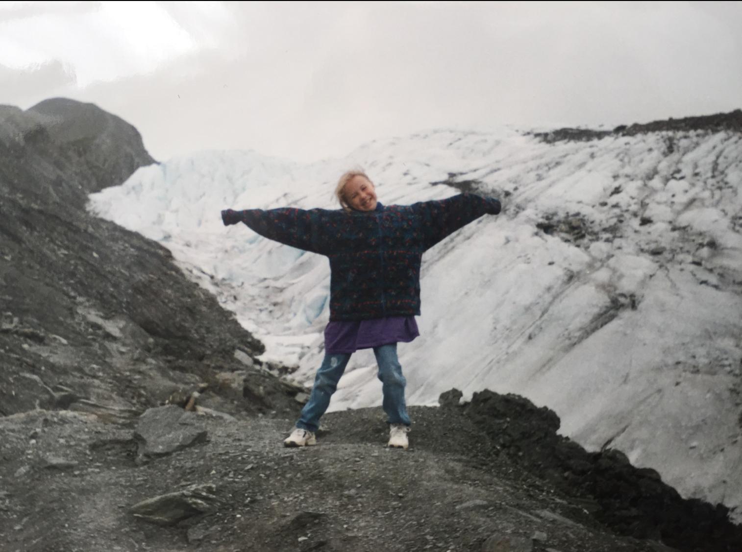 A slightly younger Hazel in Alaska