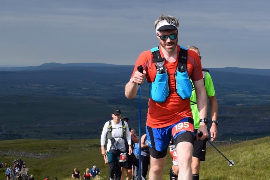 100 mile ultramarathon - The Pennine Barrier Ultra - 100 miles, 6,500 m ascentLuke ran the Pennine Barrier Ultra taking in the hard hitting Yorkshire 3 Peaks of Pen-y-Ghent, Whernside and Ingleborough, along with the immense Gordale Scar and the Dales Way.On this beautiful and gruelling route he ran non-stop for over 30 hours, clocking up the 100 miles and 6,500 m of ascent and descent. The finish was a perfect demonstration of camaraderie, with Luke and several other runners all crossing the finish line at the same time, having run through the night together.