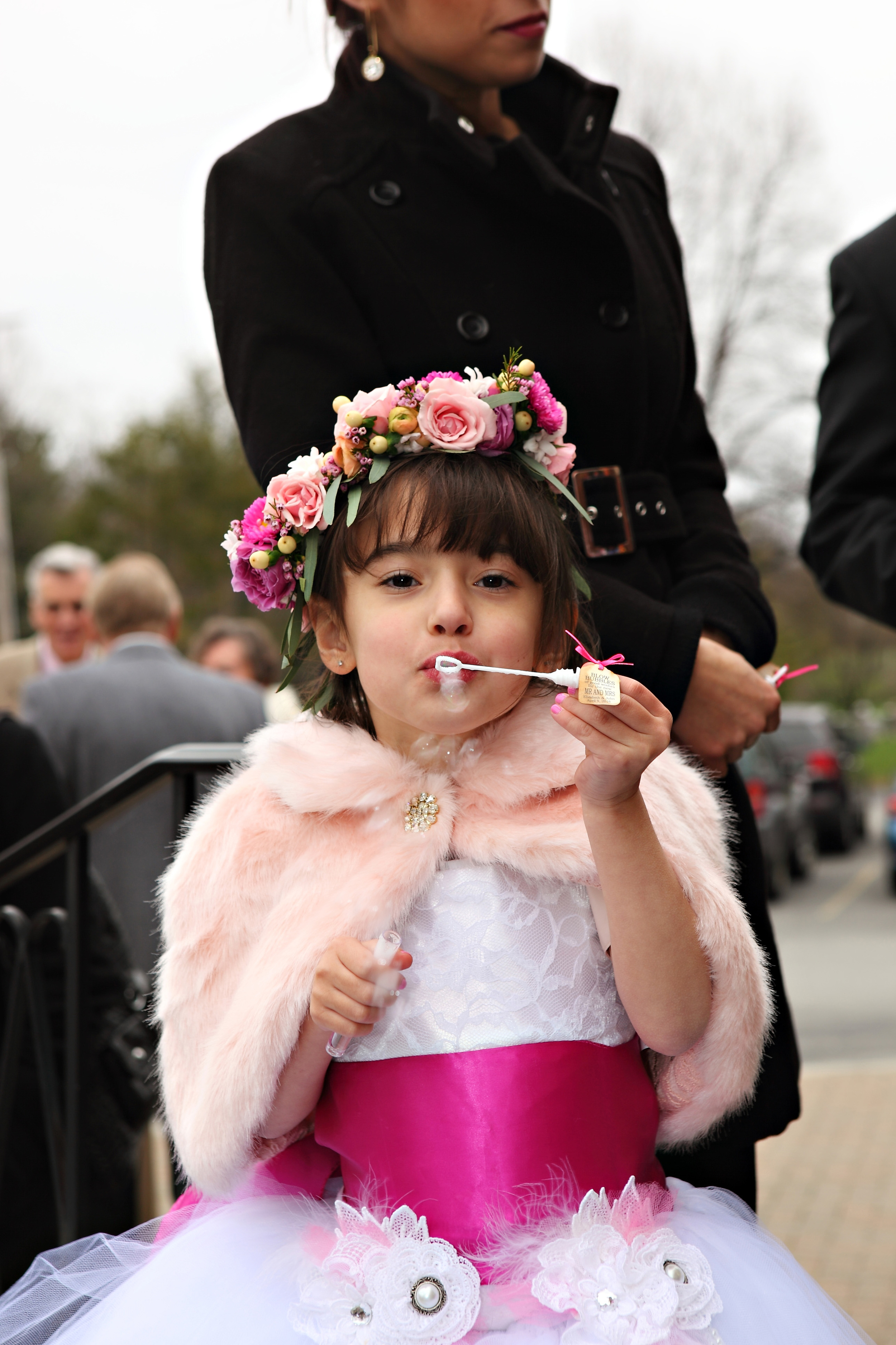 The adorable flower girl, Soleil, daughter of the Matron of Honor. How precious is she?