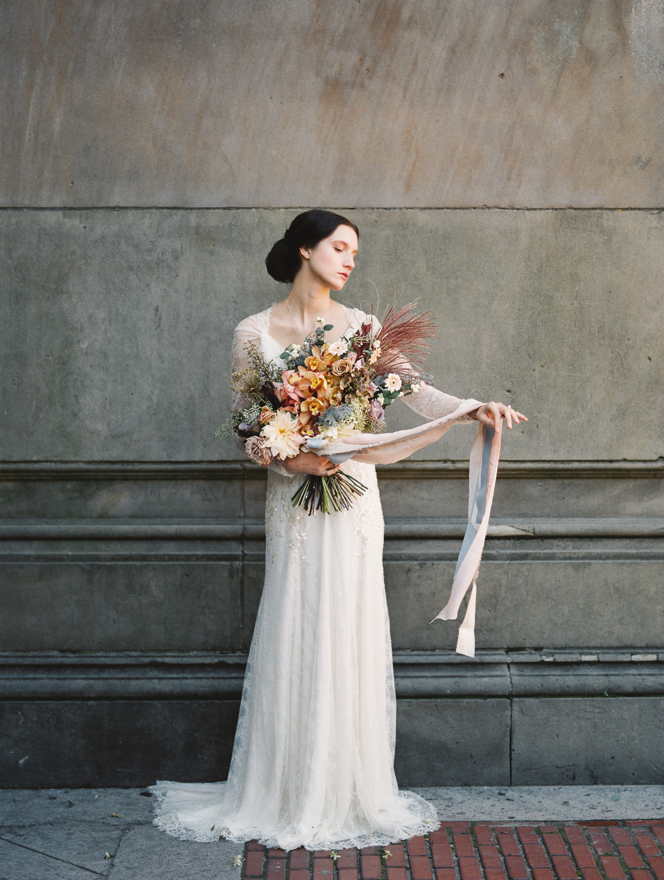 Old World Wedding in Central Park NYC Kerry Patel Designs Bouquet