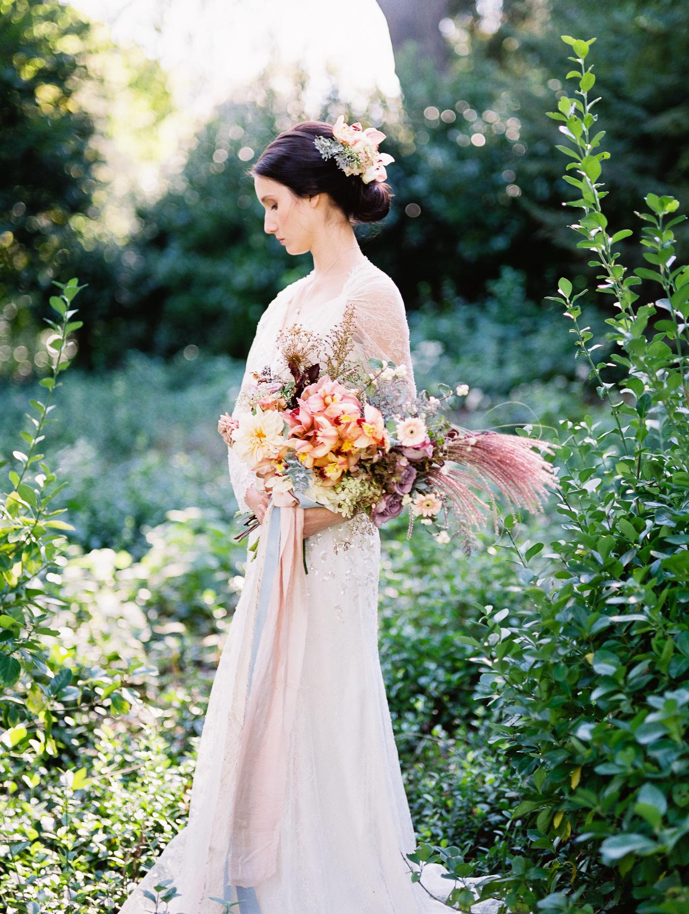 Old World Wedding Central Park NYC Romantic Bouquet Kerry Patel Designs Florist