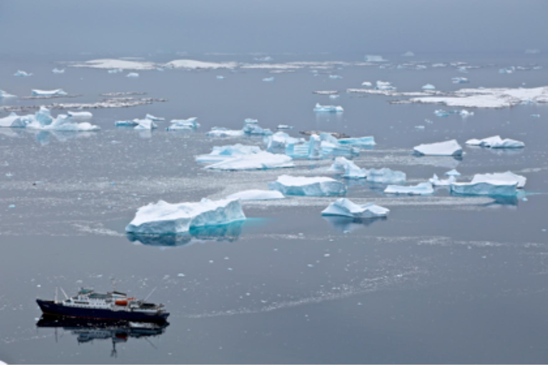 In an Iceberg Graveyard