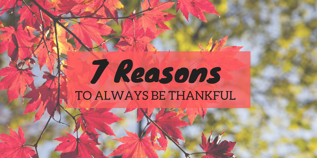 reasons to be thankful