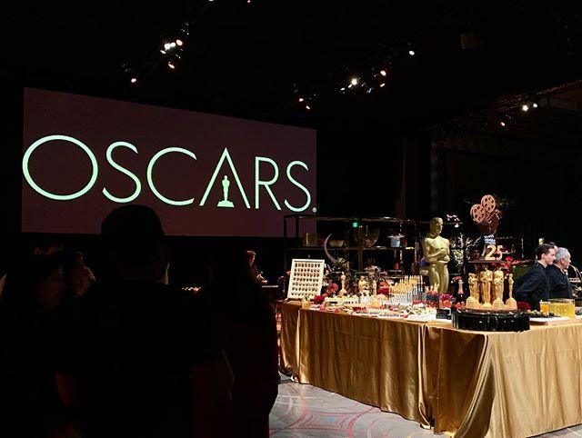 That's a wrap on the #oscars2019 #governorsball press preview! Amazing decor and execution from Cheryl Cecchetto @sequoia_productions, ideation from Lois Burwell, wines from @coppolawine, and decadent foods from @chefwolfgangpuck. 😍😍😍 Cool wine label right?? It moves! Handmade, specifically for this year's Oscars!