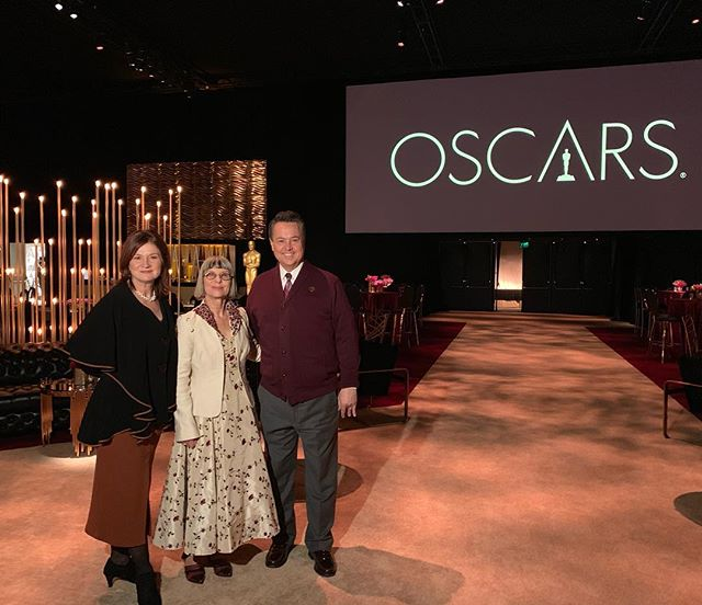 "Catch @abc7george tonight at 11 on @abc7la for a sneak peek at the #oscars Governors Ball! Academy Governor Lois Burwell shares the details of her ""Filmscape"" vision for the Ball, and Cheryl Cecchetto celebrates her 30th year producing the Oscars Governors Ball."
