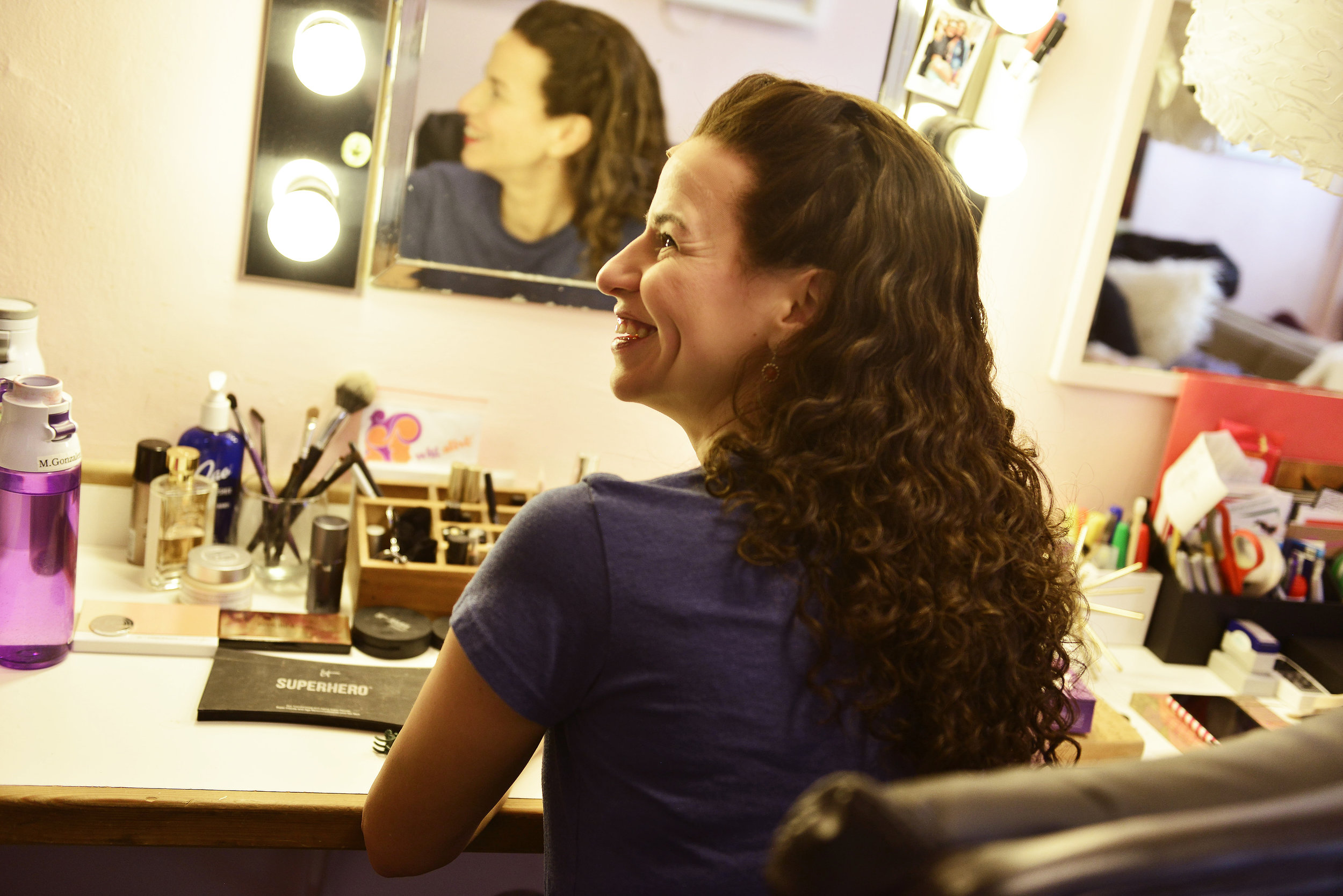 Mandy Gonzalez prepares for Hamilton / Photographed for The Dressing Room Project
