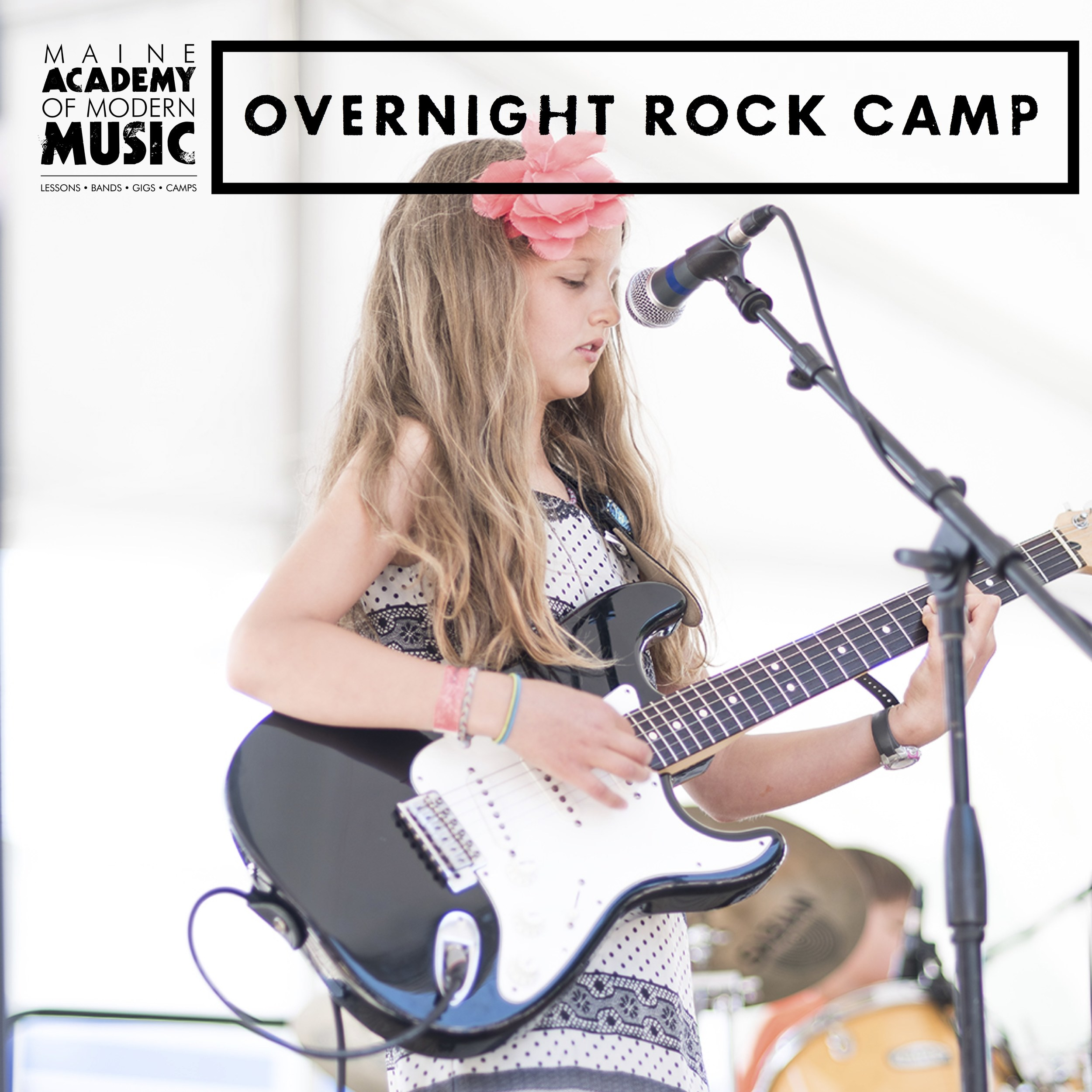This Camp provides all the basics of the MAMM Rock Camp experience with the benefit of being overnight! Camp is held at the University of Maine at Machias. Students will arrive Sunday afternoon and leave campus the following Saturday after breakfast and will perform at a noontime concert. Campers get even more practice time in the evenings to jam together while enjoying the beautiful UMM campus. Located on the northern part of Maine's incredible rugged coast, Machias offers whale watching, lighthouses, hiking, kayaking, eagles and lobster rolls - it's the perfect summer getaway.   MACHIAS - July 28 - August 3    TUITION: $900 Double / $950 Single / $300 Day Program    PROGRAM HOURS: 9am-3:30pm