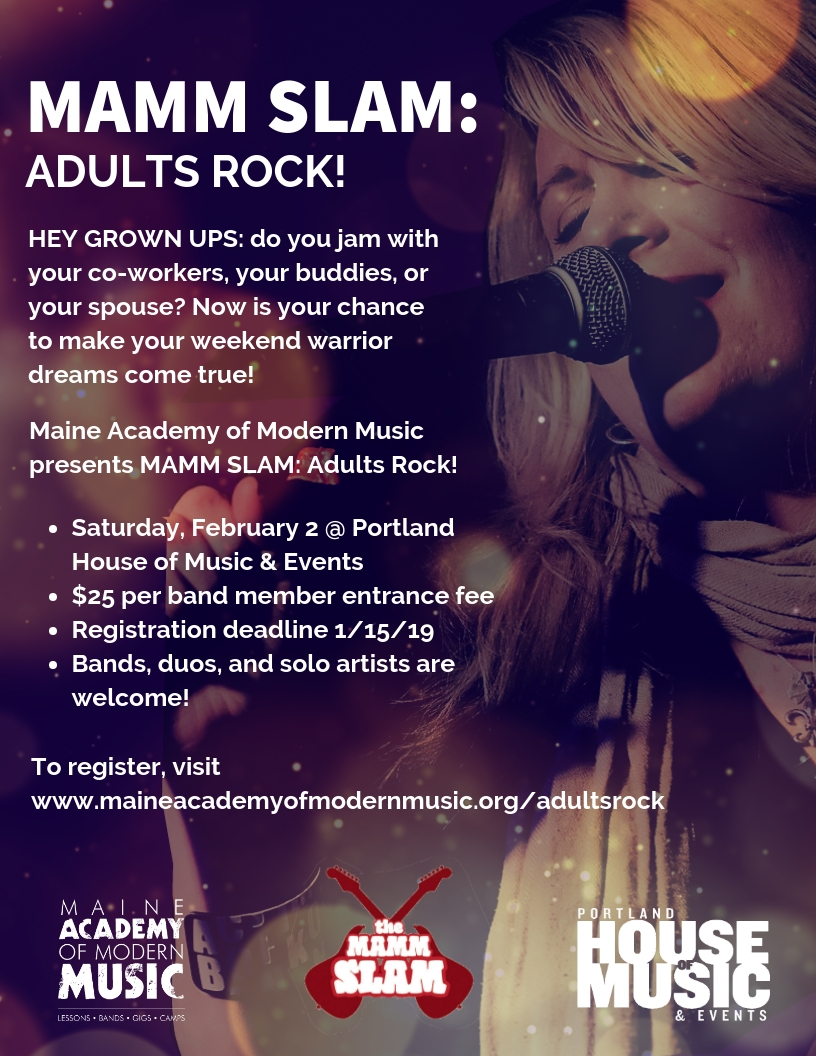 Proceeds of this adult rock off will benefit MAMM's community outreach programs. -