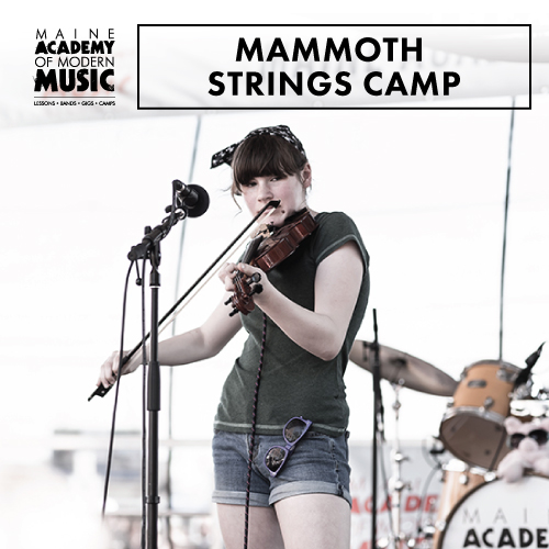MAMMOTH Strings Camp! - From Bach to Beck, originals to covers, the MAMMOTH Strings Camp will allow string students the chance to experience the thrill of making music in a fun and supportive setting.Students work together under the guidance of MAMM instructor Andy Happel to learn arrangements of rock, pop, and R&B hits.This day camp meets M-F from 9am-3:30pm in Portland from August 5-9 and tuition is $325.
