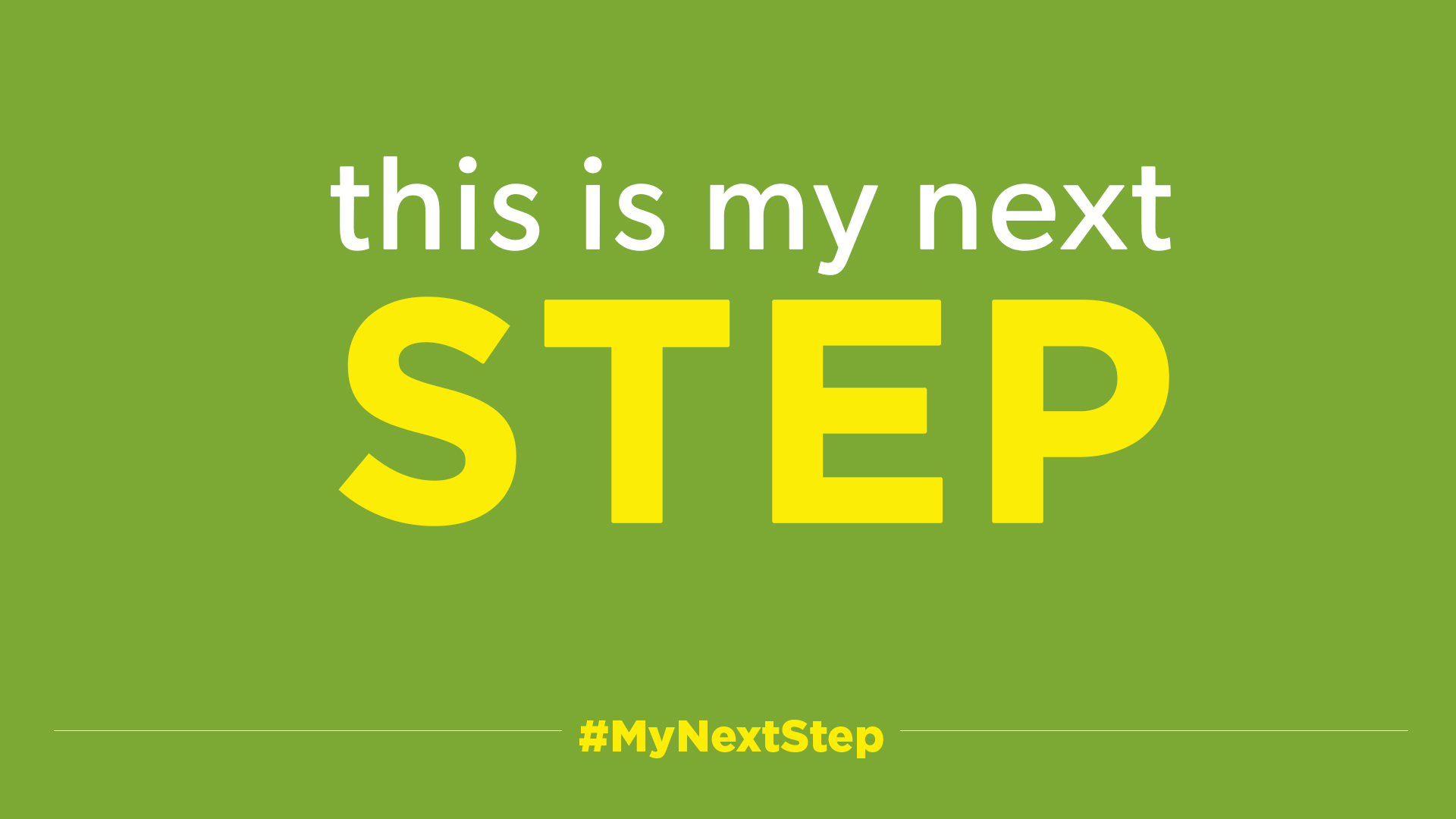 This is my next STEP   #MyNextStep   When it comes to our faith journey, we know two things; where we are and where we've been. No matter where you are on the journey, we all ask the same question…how do I step forward?