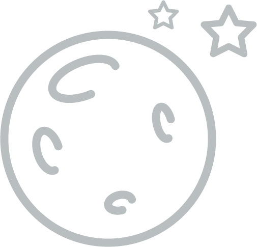 Moon with star or galaxy