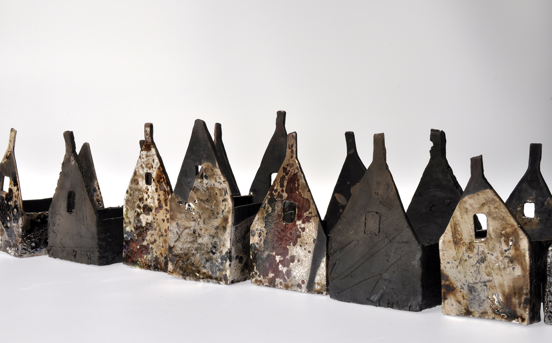 Raku fired ceramic. Sizes vary. Approx. 6cm x 7cm x 8cm